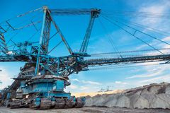 Mining machinery in the mine Stock Photos