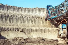 Mining machinery in the mine Stock Photography