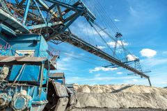 Mining machinery in the mine Stock Image