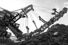 Mining machinery in the mine Royalty Free Stock Image