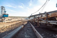 Mining machinery in the mine Royalty Free Stock Photo