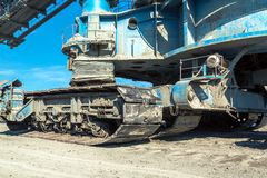 Mining machinery in the mine Royalty Free Stock Photos