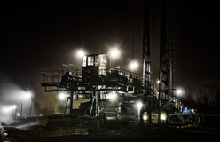 Mining machinery night Stock Photography