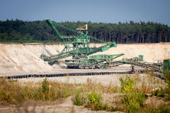 Mining machinery Royalty Free Stock Image