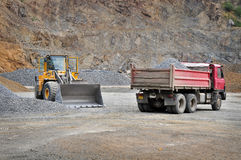 Mining machines in quarry Stock Photo
