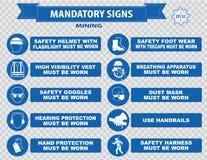 Mining mandatory sign Stock Photo