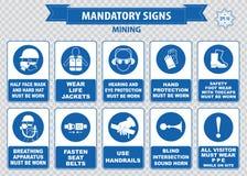 Mining mandatory sign Royalty Free Stock Image