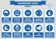 Mining mandatory sign Stock Image