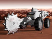 Mining on Mars Royalty Free Stock Photo
