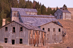 Mining Mill at Sunset Royalty Free Stock Photo