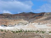 Mining of minerals, open quarry royalty free stock photography