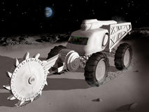 Mining on the moon Stock Photography