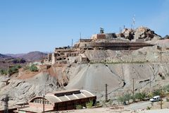 Mining in Morocco. The mining sector is one of the pillars of Morocco's economy. The Kingdom produces a number of minerals and metals, most importantly Royalty Free Stock Photography