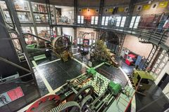 Mining museum of Asturias, The complex includes the information on mining activity. Asturias, Spain - November 19, 2018: Mining museum of Asturias, The complex stock image