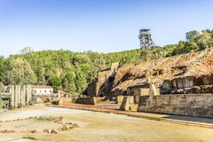 Mining museum with old shaft in Pena del Hierro, Nerva, Spain. Mining museum with old shaft in Pena del Hierro, Nerva, Huelva, Spain Stock Image