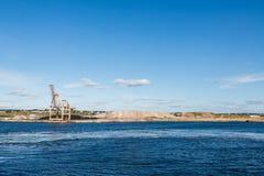 Mining Operation on Blue Coast Stock Images