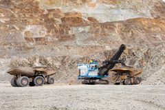 Mining Operations at Copper Mine near Calama Royalty Free Stock Image