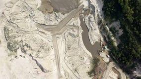 Mining operations inside a mining quarry