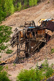 Mining the Past. Old ore mine broken down in the mountains of Colorado Royalty Free Stock Photography