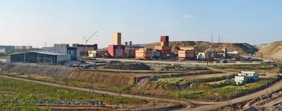 Mining and Processing Plant of Alrosa diamond mining company Stock Image