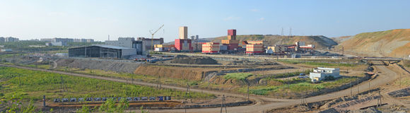 Mining and Processing Plant of Alrosa diamond mining company Royalty Free Stock Images