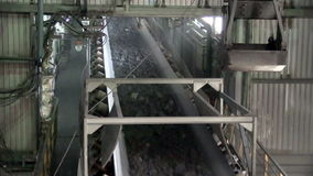 Mining Processing Plant view inside stock video