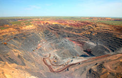Mining production. General view of the mine Stock Images