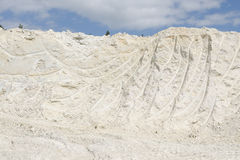 Mining of pure white kaolinite Stock Photo