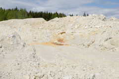 Mining of pure white kaolinite Stock Photography