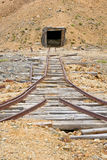 Mining rail and shaft Royalty Free Stock Images