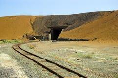 Mining Railway. The narrow guage tracks of the mining train that serviced the Moonta Mines, South Australia Royalty Free Stock Photo