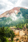 Mining in Red Mountain Range Royalty Free Stock Photos