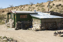 Mining shack in Mojave Desert Stock Images