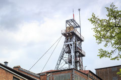 Mining shaft. Coal has been excavated on Silesia for years. Stock Photography