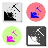 Mining. flat vector icon stock illustration