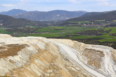 Mining site the mountains Stock Photography