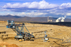 Mining Spatial View of machines. Stock Photography