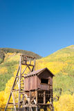 Mining structure in Colorado Mountains Royalty Free Stock Image