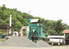 Mining technic. Grinder - in stone mine near by Sorong (Papua Barat, Indonesia Stock Photography