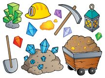 Mining theme collection 1 royalty free illustration