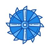 Mining tool line icon. Stock Photography