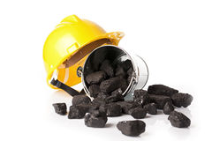 Mining tools, protective helmet Royalty Free Stock Image