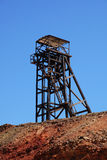 Mining tower. Tower of one of the elevators of the left mines of Rio Tinto (Spain royalty free stock images