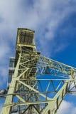 Mining tower as a memorial Stock Photos