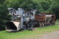 Mining Train. This is the one of the old mining trains which once was used in the old mine Finstergrund in the black forest region of southern Germany. They Stock Photography
