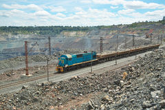Mining train on the opencast Stock Images