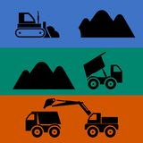 Mining and transportation of sand Royalty Free Stock Photography