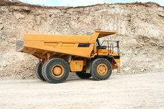 Mining truck. Dump heavy construction Royalty Free Stock Image
