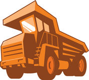 Mining Truck Low Angle Retro Stock Photography