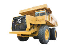 Mining truck. Old mining truck isolated on white background Royalty Free Stock Photo